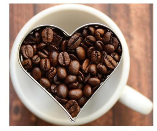 tasse café en coeur